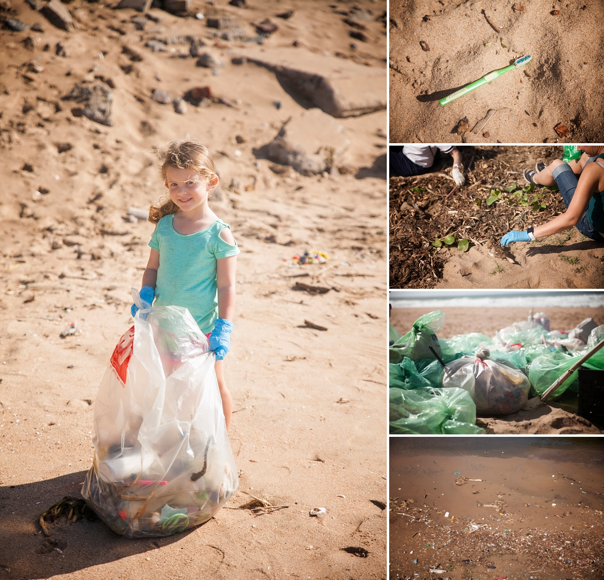 Durban beach clean up